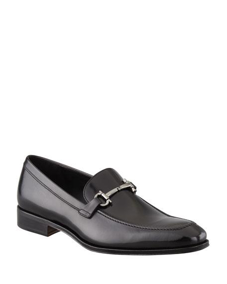 Men's Gancini-Bit Loafer Black