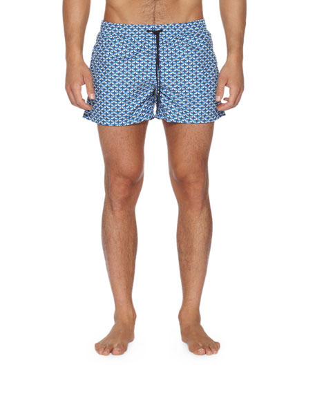 Fendi Monster Eye Swim Trunks, Blue