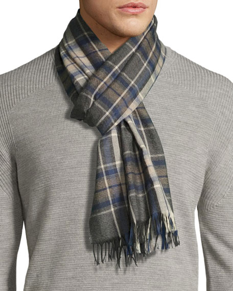 Begg & Co Tartan Plaid Cashmere Scarf with