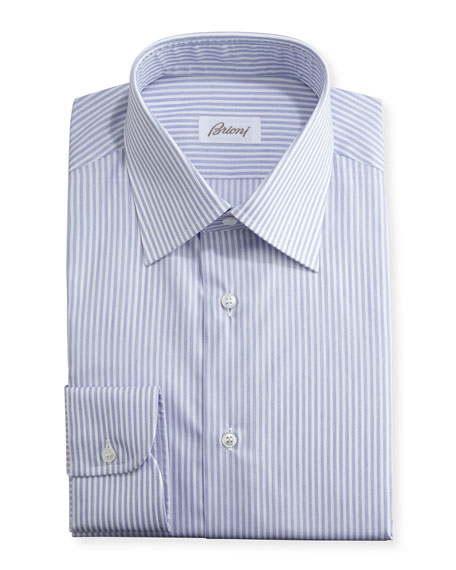 Striped Dress Shirt, Navy/White