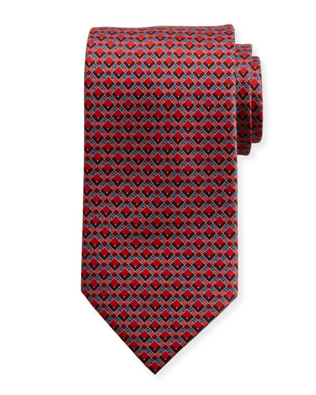 Brioni Aztec Diamonds Silk Tie