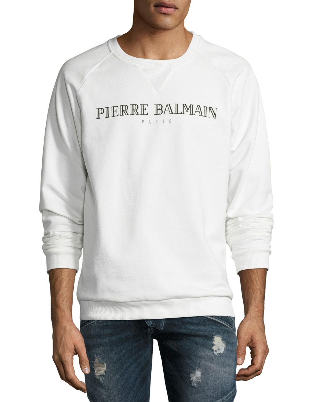 854788ac Pierre Balmain Classic Logo Sweatshirt | Neiman Marcus