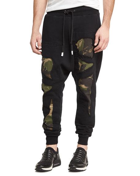 Haculla Militant Camo-Print Jogger Pants, Black/Multicolor