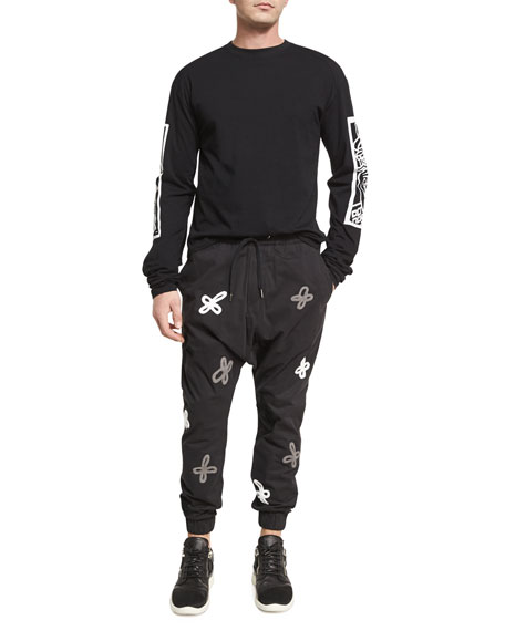 Shades of Gray Jogger Pants, Black