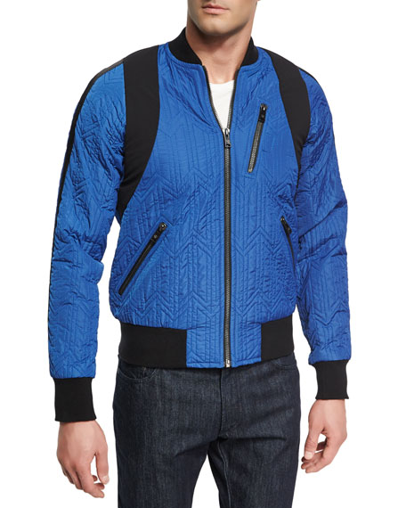 x CR Collection Quilted Bomber Jacket