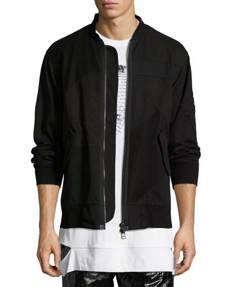 Helmut Lang Patchwork Bomber Jacket, Black