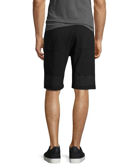 Brushstroke Logo Track Shorts, Black