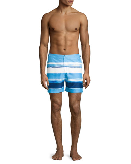 Bulldog McGovern Striped Swim Trunks, Blue