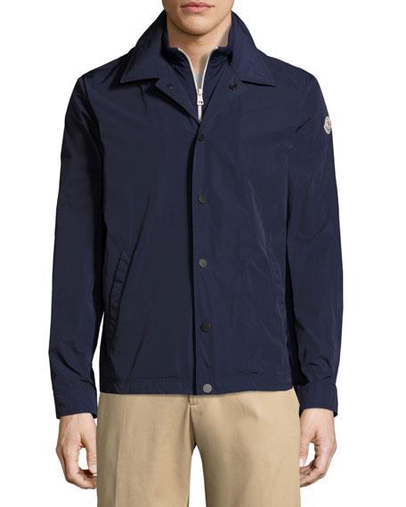 Adrien Utility Shirt Jacket, Navy