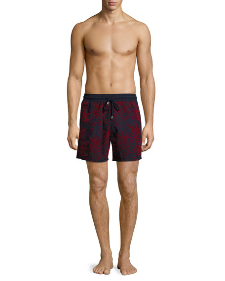 Moorea Flocked Bubbles Swim Trunks