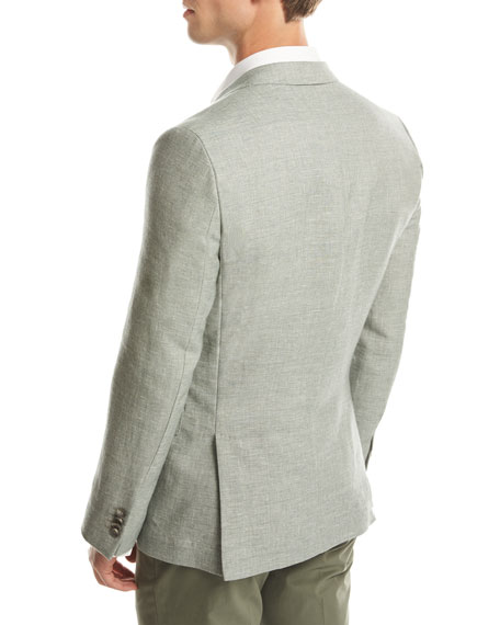 BOSS Melange Slim-Fit Sport Coat, Green