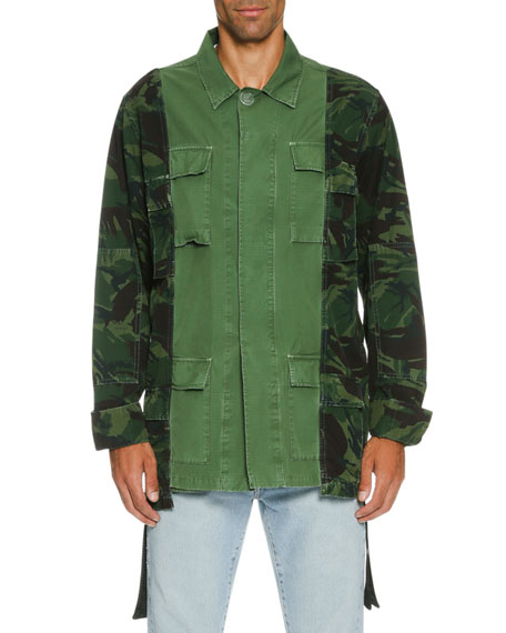 Off-White Camo Over-Dyed Field Jacket, Olive