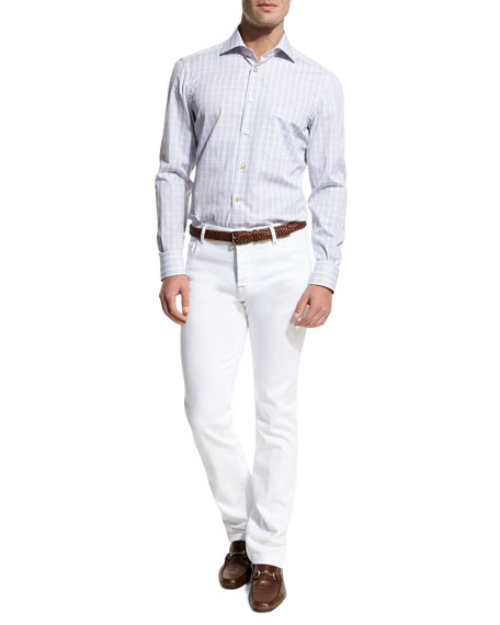 Twill Five-Pocket Pants, White