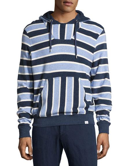 Karson Toweling Striped Hoodie