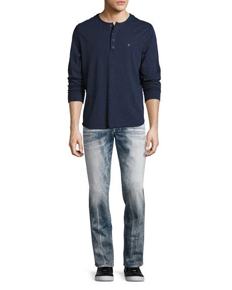 Rocco Flap-Pocket Skinny Jeans, Faded Galaxy