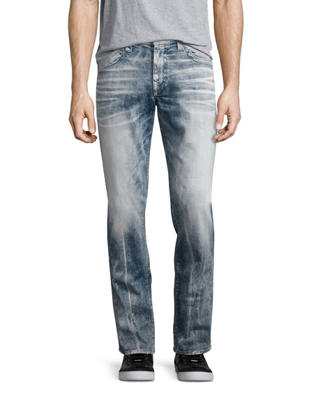 True Religion Rocco Flap-Pocket Skinny Jeans, Faded Galaxy