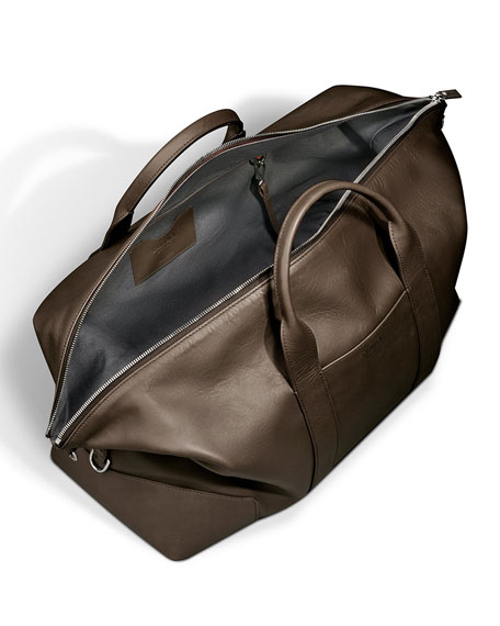 Men's Large Leather Carryall Duffel Bag