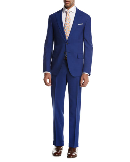 Sanita Solid Wool Two-Piece Suit, High Blue