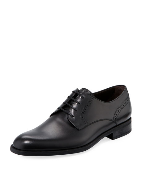 Ermenegildo Zegna Plain-Toe Leather Derby Shoe