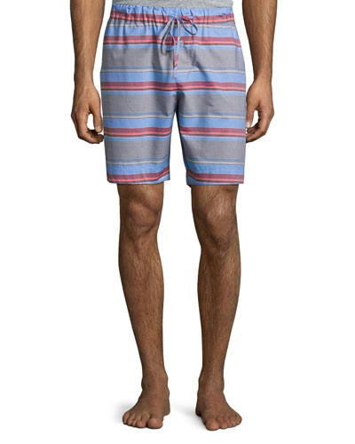 Evan Striped Drawstring Shorts, Multicolor
