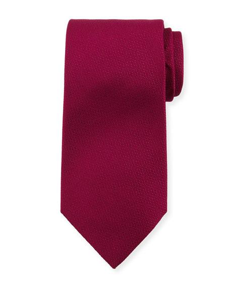 Micro-Textured Silk Tie