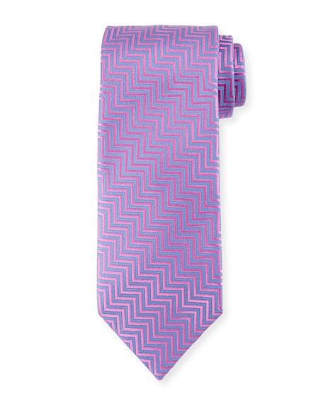 Silk Chevron Tie