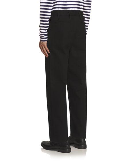 Twill Workwear Trousers, Black