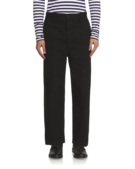Burberry Twill Workwear Trousers, Black