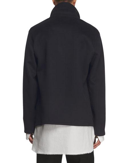 Double-Face Cashmere Workwear Jacket, Navy
