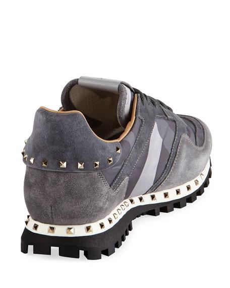 Rockrunner Men's Camo-Print Suede & Nylon Sneaker