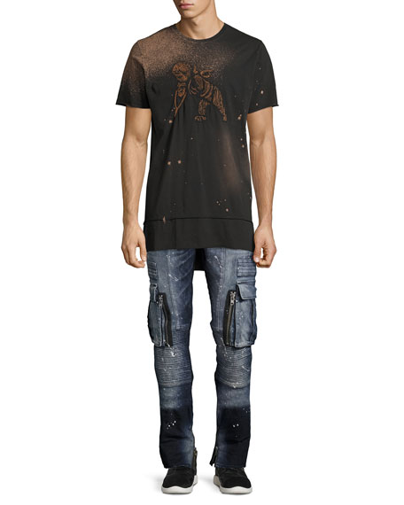 Windsor Skinny Stretch Moto Jeans, Icecap