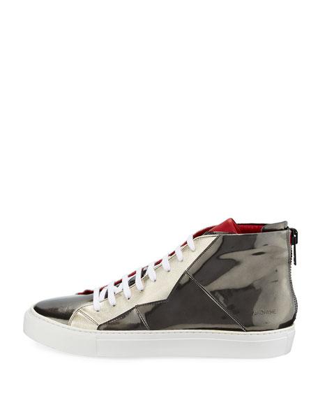 Vidar Mirror Patent Leather High-Top Sneaker