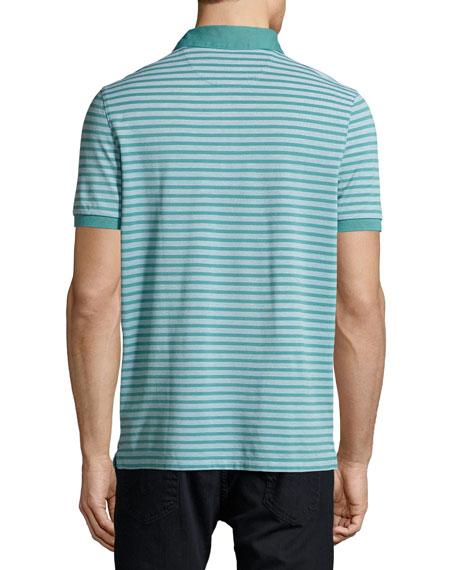Birdseye Knit Polo Shirt, Blue