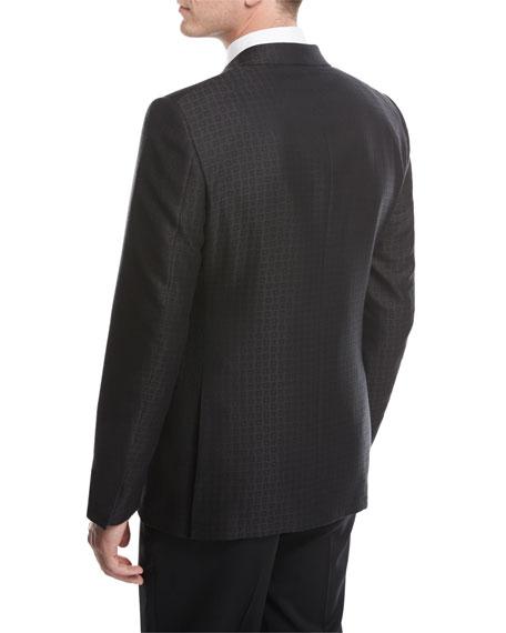 Ermenegildo Zegna Box Jacquard Tuxedo Jacket, Black