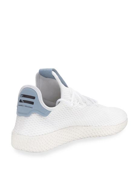 x Pharrell Williams Men's Hu Race Tennis Sneaker, White/Blue