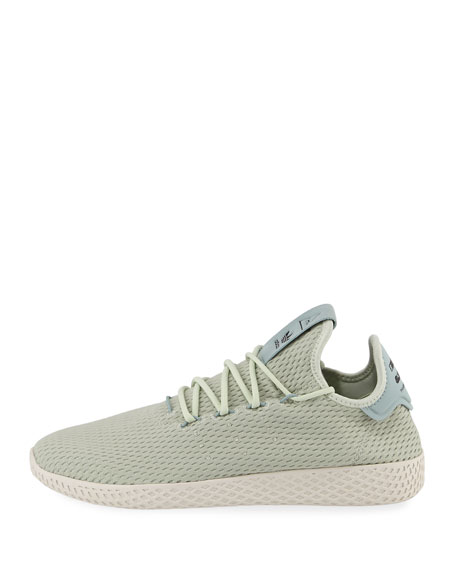 x Pharrell Williams Men's Hu Race Tennis Sneaker, Green
