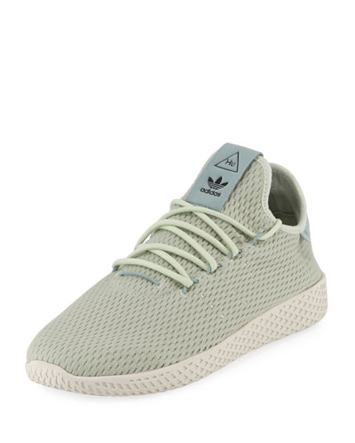 Adidas x Pharrell Williams Men's Hu Race Tennis Sneaker, Green