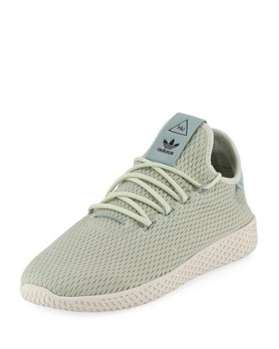 x Pharrell Williams Men's Hu Race Tennis Sneaker, Green