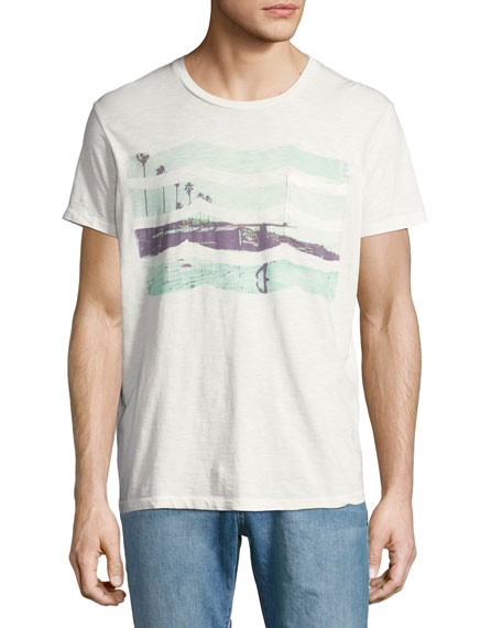 Beachside Pocket T-Shirt, White