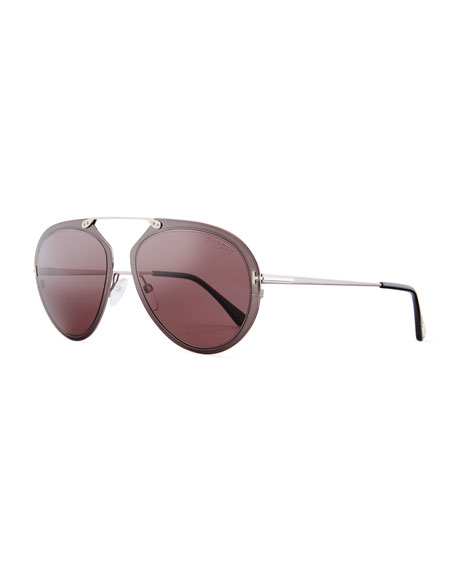 TOM FORD Dashel Aviator Sunglasses, Gunmetal