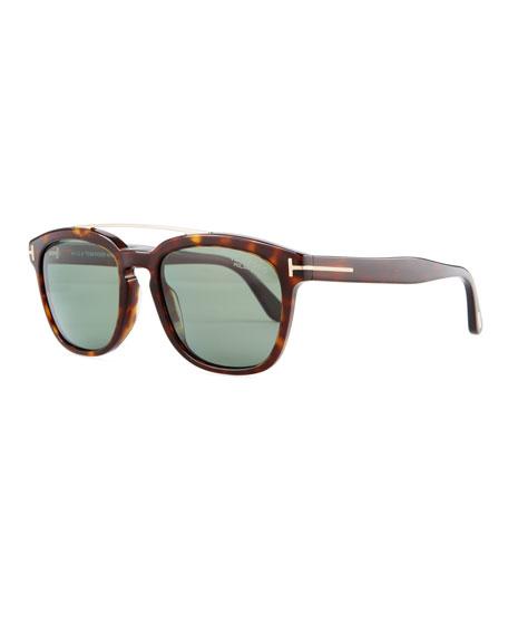 Holt Square Acetate Sunglasses, Blonde Havana