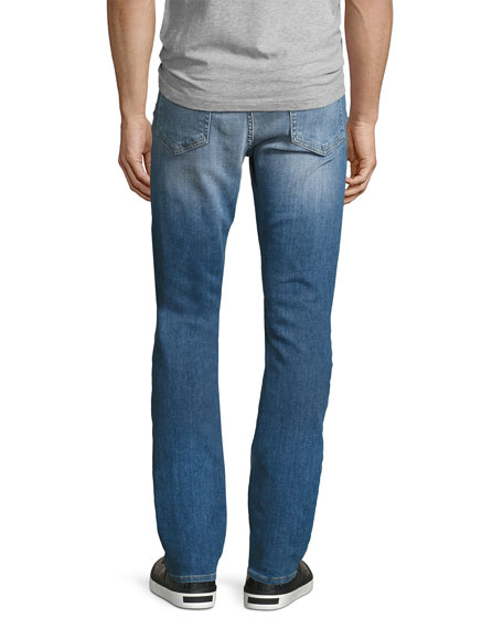 L'Homme Classic Straight-Leg Jeans, Craters