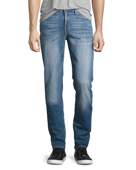 FRAME L'Homme Classic Straight-Leg Jeans, Craters