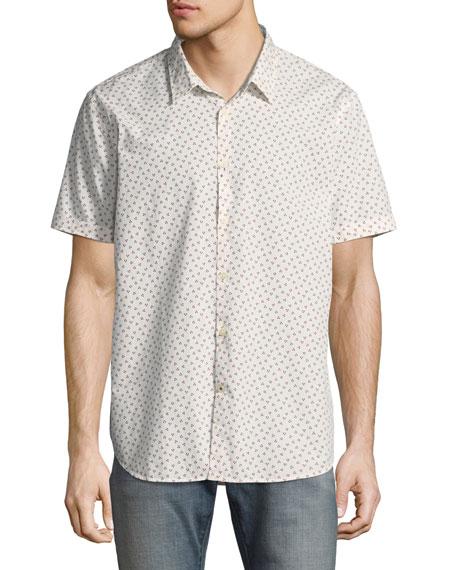 John Varvatos Star USA Mayfield Slim-Fit Short-Sleeve Windowpane
