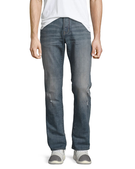 John Varvatos Star USA Bowery Slim-Straight Jeans, Blue