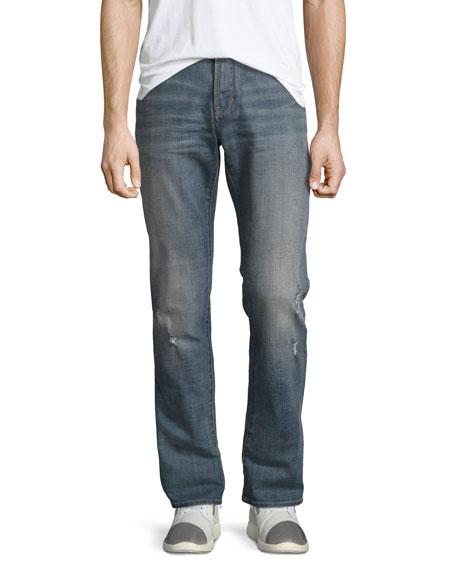 John Varvatos Star USA Bowery Slim-Straight Jeans, Blue