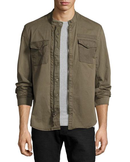 John Varvatos Star USA Garment-Dyed Military Shirt Jacket,