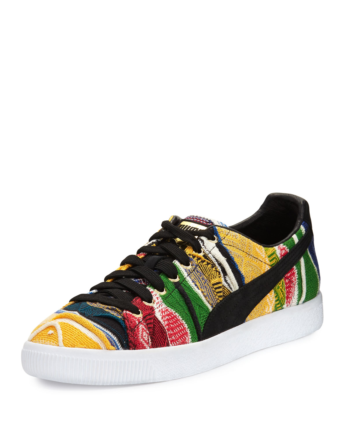 free shipping c809d d4ce6 x COOGI Men's Clyde Knit Low-Top Sneaker, Black/Yellow