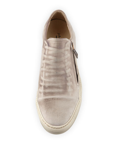 315 Reed Ghosted Low-Top Sneaker, White