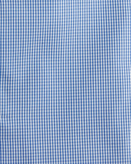 Isaia Slim-Fit Gingham Check Dress Shirt, Blue